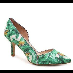 Kelly & Katie green tropical heels Sz 9 PreLoved